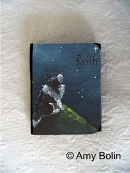 SMALL ORGANIZER WALLET · FAITH · BI BLACK SHELTIE · AMY BOLIN