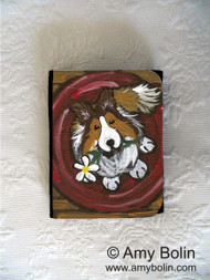 SMALL ORGANIZER WALLET · BE MINE  · SABLE  SHELTIE · AMY BOLIN