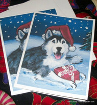 NOTE CARDS · MERRY CHRISTMAS (BLUE EYES) · HUSKIES & MALAMUTES · AMY BOLIN