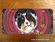 LICENSE PLATE · BE MINE · TRI COLOR SHELTIE · AMY BOLIN
