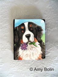 SMALL ORGANIZER WALLET · I SAW THIS FLOWER  · BERNESE MOUNTAIN DOG  · AMY BOLIN