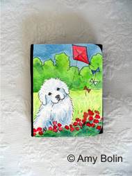 SMALL ORGANIZER WALLET · FLY AWAY  · GREAT PYRENEES · AMY BOLIN