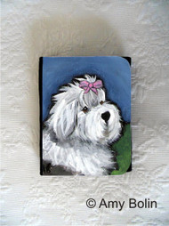 SMALL ORGANIZER WALLET · ALL GUSSIED UP  · OLD ENGLISH SHEEPDOG · AMY BOLIN