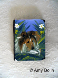 SMALL ORGANIZER WALLET · A SECRET TREAT · SABLE  SHELTIE · AMY BOLIN