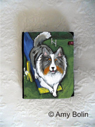 SMALL ORGANIZER WALLET · AGILITY KING · BLUE MERLE  SHELTIE · AMY BOLIN