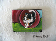 SMALL ORGANIZER WALLET · AGILITY STAR · TRI COLOR  SHELTIE · AMY BOLIN