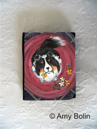 SMALL ORGANIZER WALLET · BE MINE  · TRI COLOR  SHELTIE · AMY BOLIN