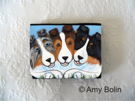 SMALL ORGANIZER WALLET · BFF'S  · BLUE MERLE, SABLE, TRI COLOR  SHELTIE · AMY BOLIN