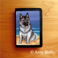 TRIFOLD WALLET · BEACH BUM · NORWEGIAN ELKHOUND  · AMY BOLIN
