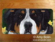 LICENSE PLATE · PIPER · GREATER SWISS MOUNTAIN DOG · AMY BOLIN