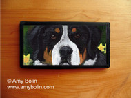 CHECKBOOK COVER · PIPER · GREATER SWISS MOUNTAIN DOG · AMY BOLIN