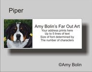 ADDRESS LABELS · PIPER · GREATER SWISS MOUNTAIN DOG · AMY BOLIN