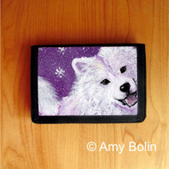 TRIFOLD WALLET · WISH UPON A SNOWFLAKE · SAMOYED · AMY BOLIN