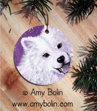 CERAMIC ORNAMENT · WISH UPON A SNOWFLAKE · SAMOYED · AMY BOLIN