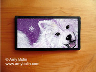 CHECKBOOK COVER · WISH UPON A SNOWFLAKE · SAMOYED · AMY BOLIN