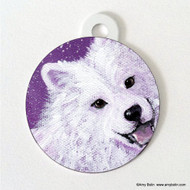 DOUBLE SIDED PET ID TAG · WISH UPON A SNOWFLAKE · SAMOYED · AMY BOLIN