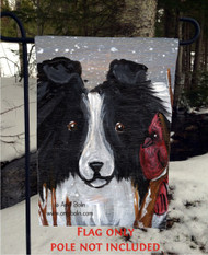GARDEN FLAG · WINTER BUDDIES · BI BLACK SHELTIE · AMY BOLIN