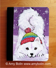 NOTEBOOKS (SEVERAL SIZES AVAILABLE) · PLAYFUL PUP · SAMOYED · AMY BOLIN