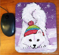 MOUSE PAD · PLAYFUL PUP · SAMOYED · AMY BOLIN