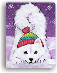 MAGNET · PLAYFUL PUP · SAMOYED · AMY BOLIN