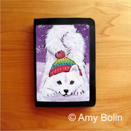 TRIFOLD WALLET · PLAYFUL PUP · SAMOYED · AMY BOLIN