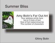 ADDRESS LABELS · SUMMER BLISS · SAMOYED · AMY BOLIN
