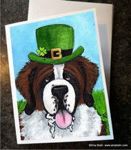 NOTE CARDS · A BIG, WET IRISH KISS · SAINT BERNARD · AMY BOLIN