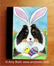 NOTEBOOKS (SEVERAL SIZES AVAILABLE) · EASTER SHELTIE · TRI COLOR SHELTIE · AMY BOLIN