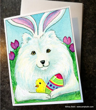NOTE CARDS · EASTER SAMMY · SAMOYED · AMY BOLIN