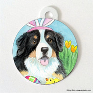 DOUBLE SIDED PET ID TAG · EASTER BERNIE · BERNESE MOUNTAIN DOG · AMY BOLIN