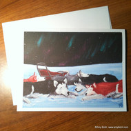 NOTE CARDS · SWEET DREAMS · SIBERIAN HUSKY · AMY BOLIN