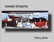 ADDRESS LABELS · SWEET DREAMS · SIBERIAN HUSKY · AMY BOLIN