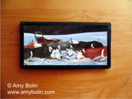 CHECKBOOK COVER · SWEET DREAMS · SIBERIAN HUSKY · AMY BOLIN