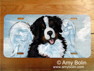 LICENSE PLATE · MY SWEET ANGEL · BERNESE MOUNTAIN DOG · AMY BOLIN