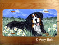 LICENSE PLATE · MOUNTAIN HOME · BERNESE MOUNTAIN DOG · AMY BOLIN