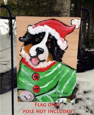 GARDEN FLAG · CHRISTMAS CUDDLIES · BERNESE MOUNTAIN DOG · AMY BOLIN