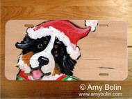 LICENSE PLATE · CHRISTMAS CUDDLIES · BERNESE MOUNTAIN DOG · AMY BOLIN