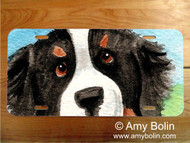LICENSE PLATE · I SAW THIS FLOWER · BERNESE MOUNTAIN DOG · AMY BOLIN