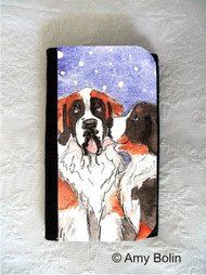 LARGE ORGANIZER WALLET · LITTLE KISS · BERNESE MOUNTAIN DOG, SAINT BERNARD · AMY BOLIN