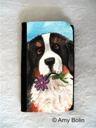 LARGE ORGANIZER WALLET · I SAW THIS FLOWER · BERNESE MOUNTAIN DOG · AMY BOLIN