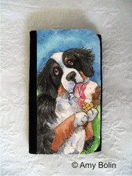 LARGE ORGANIZER WALLET · MAKE MINE NEAPOLITAN · BERNESE MOUNTAIN DOG · AMY BOLIN