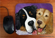 MOUSE PAD · BE MINE · BERNESE MOUNTAIN DOG, GOLDEN RETRIEVER · AMY BOLIN