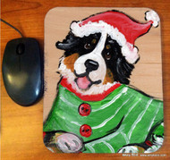 MOUSE PAD · CHRISTMAS CUDDLIES · BERNESE MOUNTAIN DOG · AMY BOLIN