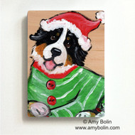 MAGNET · CHRISTMAS CUDDLIES · BERNESE MOUNTAIN DOG · AMY BOLIN