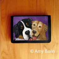 TRIFOLD WALLET · BE MINE · BERNESE MOUNTAIN DOG, GOLDEN RETRIEVER · AMY BOLIN