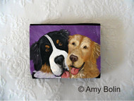 SMALL ORGANIZER WALLET · BE MINE · BERNESE MOUNTAIN DOG, GOLDEN RETRIEVER · AMY BOLIN