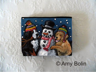 SMALL ORGANIZER WALLET · FRIENDS OF SNOW NEED LOVE TO GROW · BERNESE MOUNTAIN DOG, GOLDEN RETRIEVER · AMY BOLIN