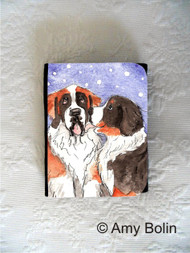 SMALL ORGANIZER WALLET · LITTLE KISS · BERNESE MOUNTAIN DOG, SAINT BERNARD · AMY BOLIN