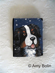 SMALL ORGANIZER WALLET · COUNTING SNOWFLAKES · BERNESE MOUNTAIN DOG · AMY BOLIN