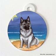 DOUBLE SIDED PET ID TAG · BEACH BUM · NORWEGIAN ELKHOUND · AMY BOLIN